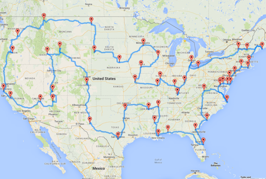 The Ultimate Map United States Road Trip